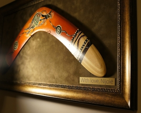 bumerangas verslo dovana su imones logotipu