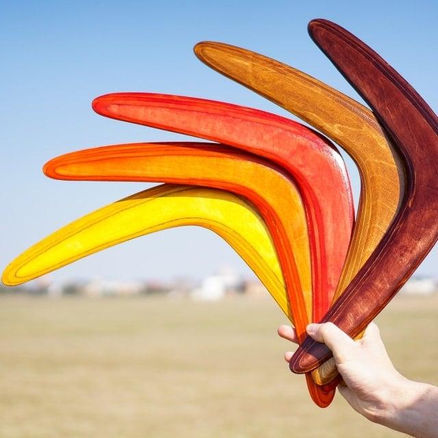 įvairiaspalviai bumerangai, ką padovanoti vaikinui, dovanos