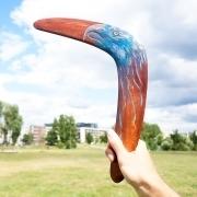 Bumerangas vanagas Medinis Dizainas Suvenyrai